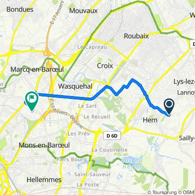 De 10 Square des Bouleaux, Hem à 147 Rue Pierre Brossolette, Marcq-en-Baroeul