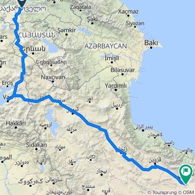 Etape 3- Georgien-Iran