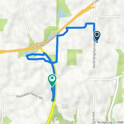 5015 NE 45th St, Kansas City to 3828–3998 N Chouteau Trafficway, Kansas City