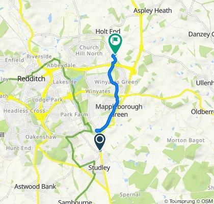 Birmingham Road 40 to Hedera Road 9
