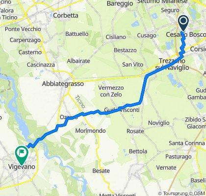 Via Pasubio 36, Cesano Boscone to Corso Vittorio Emanuele II 12–38, Vigevano