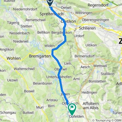 Industriestrasse 186, Spreitenbach nach Mühlestrasse 2, Obfelden