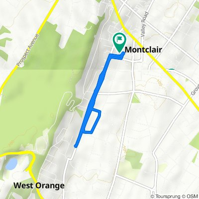 46 St Lukes Pl, Montclair to 14 Carriage Way, Montclair