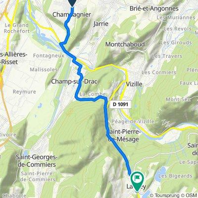 De 7–9 Place du Laca, Champagnier à Les Baumes, Laffrey