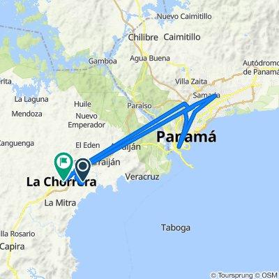 De Puerto Caimito a 8a Norte 282-9, La Chorrera