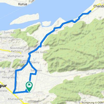 Panjabari Road, Guwahati to Panjabari Road, Guwahati