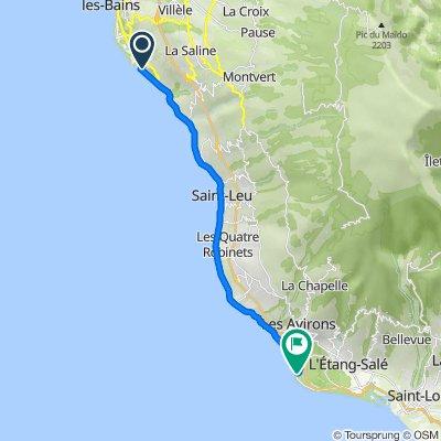 De 14 Rue des Argonautes, La Saline-les-Bains à Rue de l'Isle de France, L'Etang-Salé-les-Bains