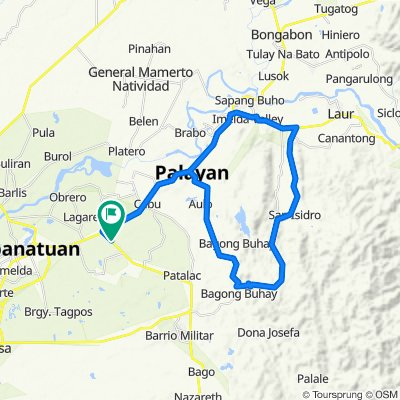 Bangad-Guyabano-Tanawan-Laur-Palayan-Bangad Loop