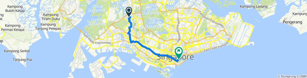 Choa Chu Kang Central 228, Singapore to Bayfront Avenue 1, Singapore