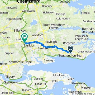 307 Sutton Road, Southend-on-Sea to Alpi House, Miles Gray Road, Basildon