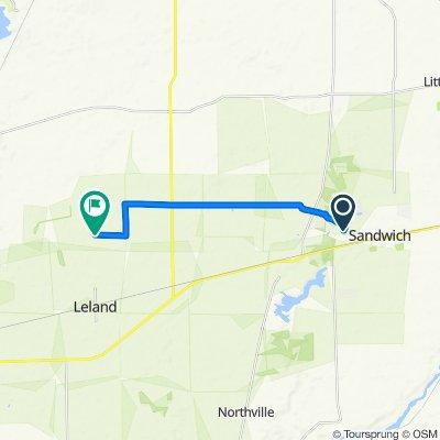 1515 W Fairside Dr, Sandwich to 7180–7498 Sanderson Rd, Leland