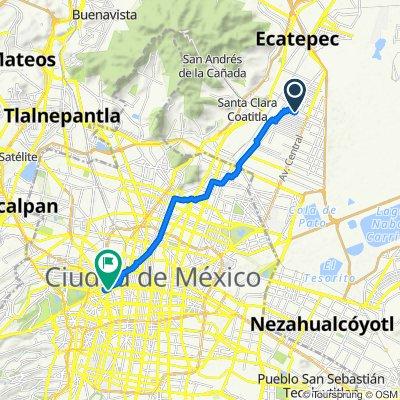 De Acolman 18, Ecatepec de Morelos a Avenida Chapultepec 301, Ciudad de México