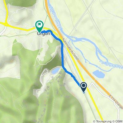 Route de la Gare, Orgon to Impasse des Étables, Orgon