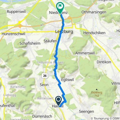 Käsereistrasse 42, Hallwil nach Saxerweg 5, Niederlenz