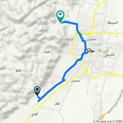 Route to 2614 طريق منتزه مشار, حائل
