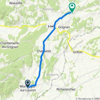 Le Village 19, Montségur-sur-Lauzon naar Route des Lièvres 1250, Grignan