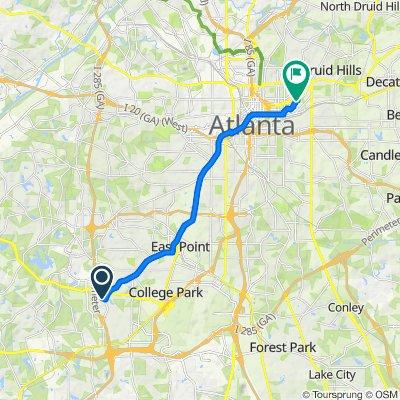 2865 Laurel Ridge Cir, East Point to 240 N Highland Ave NE, Atlanta