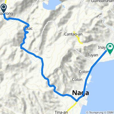 Route from Uling-Naga Road, Naga City
