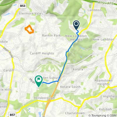 Kookaburra Circuit 121, New Lambton Heights to Lois Crescent 18, Cardiff
