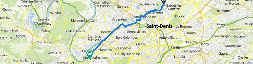 De 7 Place Camille Saint-Saëns, Sarcelles à Rue Édouard Manet, Rueil-Malmaison