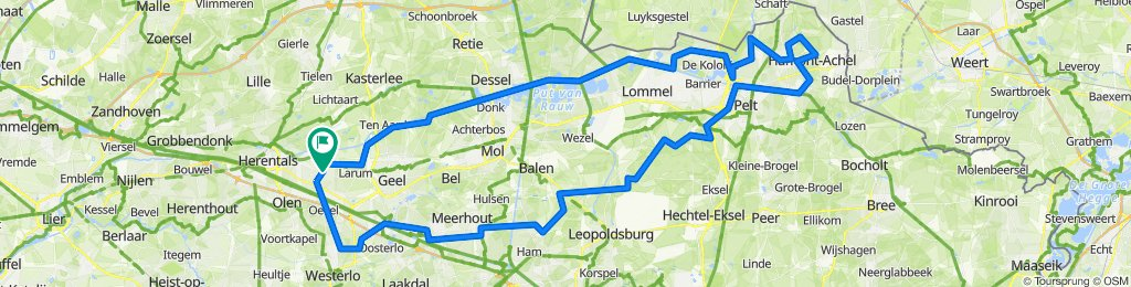 133km - Flirten met de grens (Achel-Lommel-Pelt)