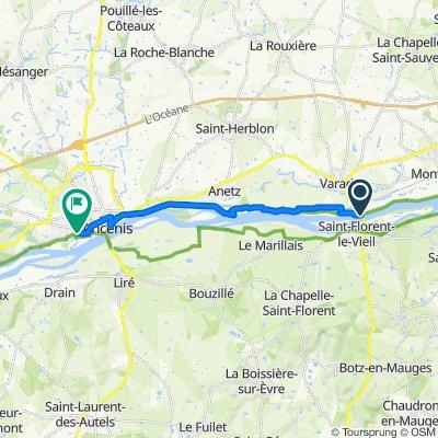 De 50 Rue de la Haute Meilleraie, Varades à 53 Le Champ Roncin, Saint-Géréon