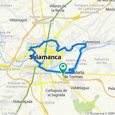 De Avenida de Asturias, 30, Santa Marta de Tormes a Avenida de Asturias, 30, Santa Marta de Tormes