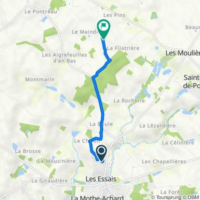 De Rue des Pins 22, Saint-Georges-de-Pointindoux à La Maison Neuve, Martinet