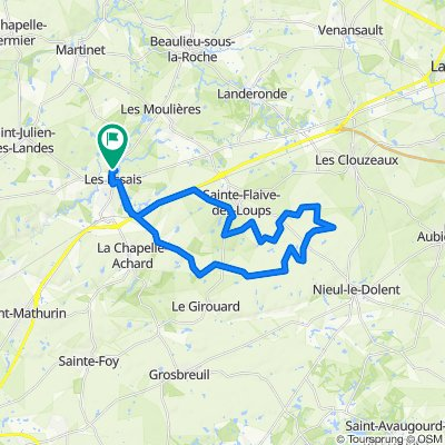 De Rue des Pins 22, Saint-Georges-de-Pointindoux à Rue des Pins 22, Saint-Georges-de-Pointindoux
