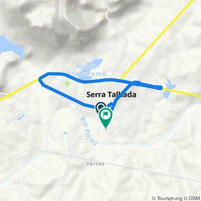 De Rua José Joaquim de Lima, 225, Serra Talhada a Avenida Custodio Conrrado de Lorena e Sa, 999, Serra Talhada