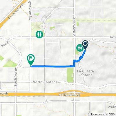 5868 Wilshire Dr, Fontana to 6074 Jepson Ct, Fontana