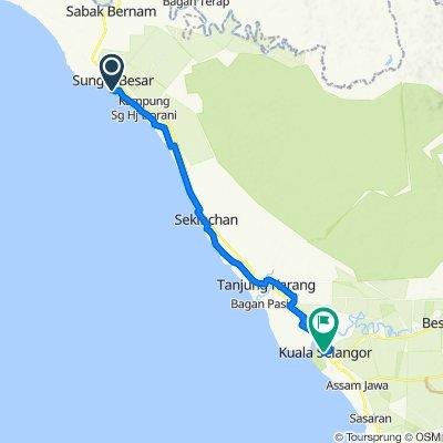 Jalan TP-1, Pancang Bedena to Jalan Sultan Salahuddin, Kuala Selangor