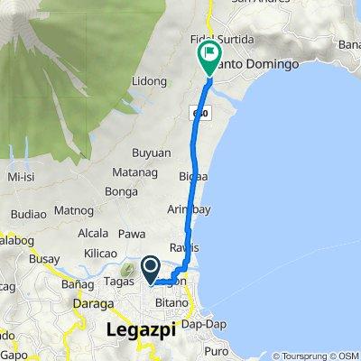 Albay 647, Legazpi City to Legazpi City - Tiwi Coastal Road 331, Santo Domingo