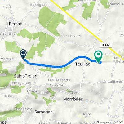 De D251, Saint-Trojan à 29 Chemin de la Fontaine, Teuillac