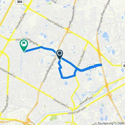 Soi Nawamin 111, Bangkok to 3/8 Soi Lat Phrao Wang Hin 70, Bangkok