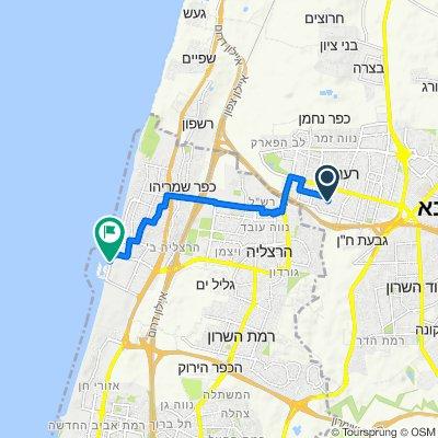 Yehuda Halevi Street 45, Ra'Annana to The Reef Street 2, Herzliya