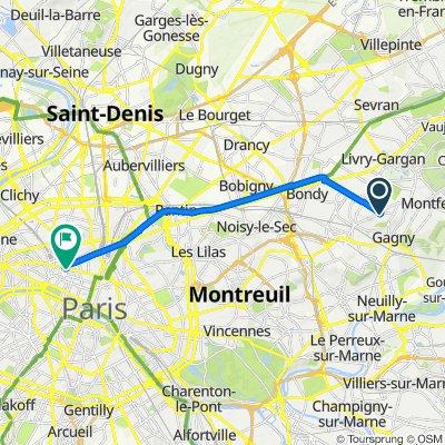 De 14 Allée du Télégraphe, Le Raincy à 17Bis Boulevard Haussmann, Paris