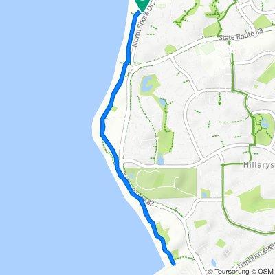 Northshore Dr After Northshore Av, Kallaroo to Northshore Dr After Northshore Av, Kallaroo