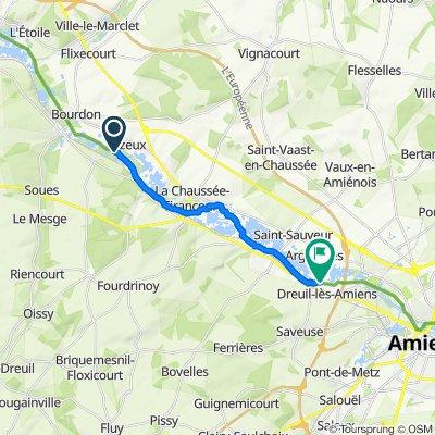 Route to 12 Chemin de la Marine, Dreuil-lès-Amiens