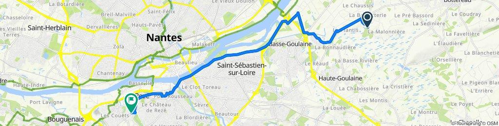 De 27 Le Berly, Saint-Julien-de-Concelles à 54 Rue Jean Mermoz, Bouguenais