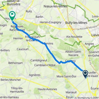 De Rue Louis Barthas, Neuville-Saint-Vaast à 242 Rue de la Gendarmerie, Houdain