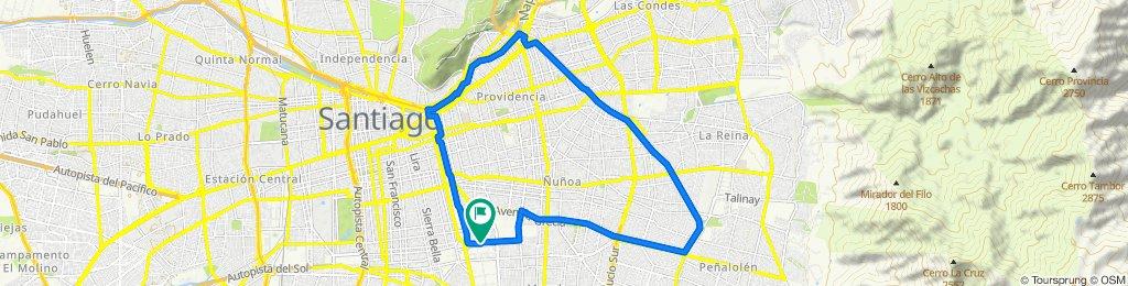 De Pasaje Siete 2065, Ñuñoa a Calle Seis 2088, Ñuñoa