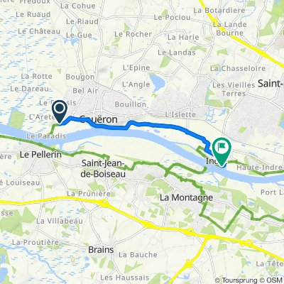 De 45–49 Rue Jean-Jacques Audubon, Couëron à 3 Quai Henri Brunais, Indre