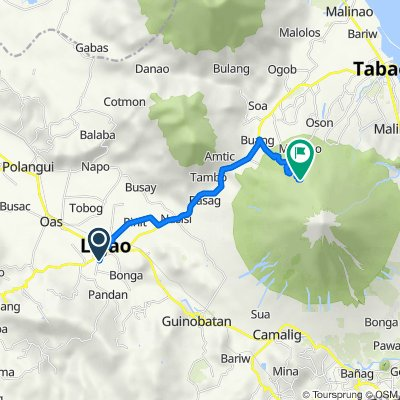 Unnamed Road, Ligao to Mount Mayon Park Road, Tabaco City