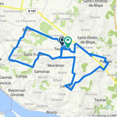 De 187 Route des Terroirs, Teuillac à 29 Chemin de la Fontaine, Teuillac