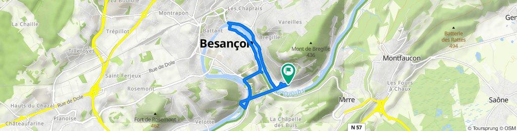 De 14B Voies de la Cité des Prés de Vaux, Besançon à 14B Voies de la Cité des Prés de Vaux, Besançon