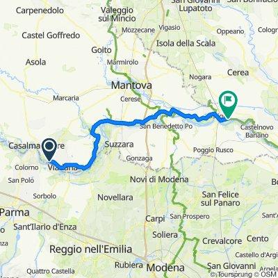River Po cycle route (Mantova province north bank) Ciclovia del Po tratto mantovano nord
