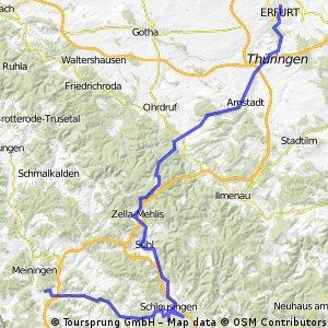 Radtour 2005 Thüringer Wald