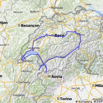 Radtour 2010 Rundtour Schweiz