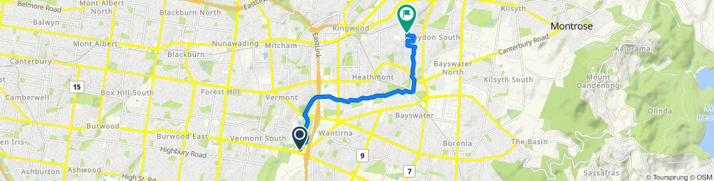 Eastlink Trail, Wantirna to 1 Camelia Court, Croydon South